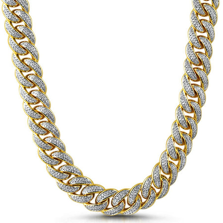 Moon Cut Chain 7MM Gold Necklace