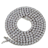 Stainless Steel 1 Row 4MM CZ Tennis Chain