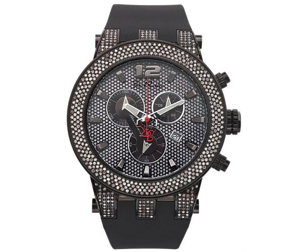 Joe Rodeo Broadway Black Watch 5.00ct White Diamonds Rubber Band