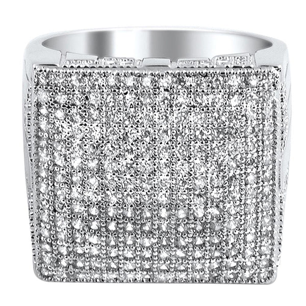 XL Mega Icey CZ Micro Pave Bling Bling Ring