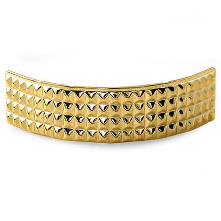 4 Row Princess Cut Gold Grillz Top
