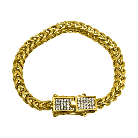 18MM Gold Miami Cuban 316L Bracelet Box Clasp