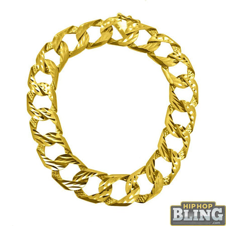 10K Yellow Gold 4MM Cuban Bracelet