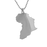 Africa Polished Rhodium Mini Pendant