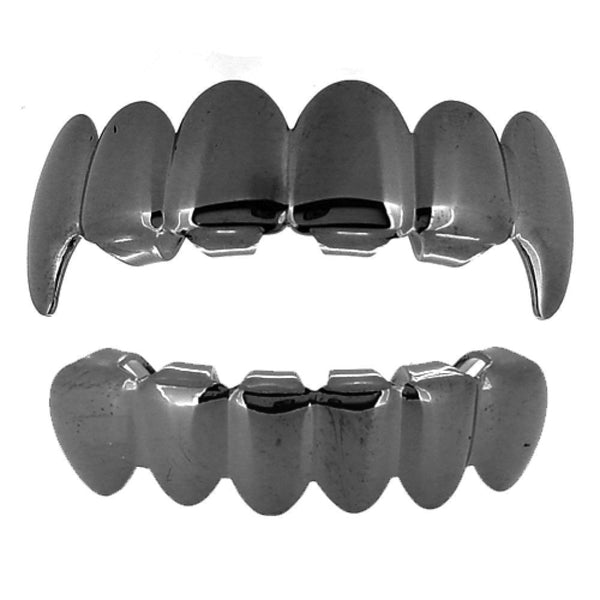 Black Vampire Grillz Top & Bottom Combo