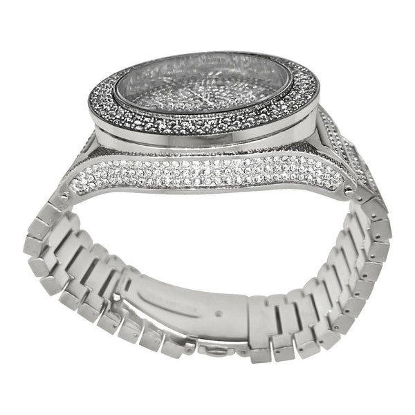 Bling Bling CEO Rhodium Hip Hop Watch