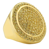 Lemonade Mega Circles of Ice Micro Pave Ring