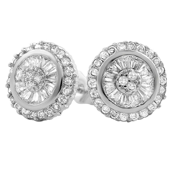 Baguette Radiant CZ Bling Bling Earrings