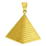 Gold Egyptian Pyramid Stainless Steel Pendant