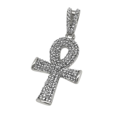 Gold Ankh Bling Bling Cross Tennis Chain Set Special
