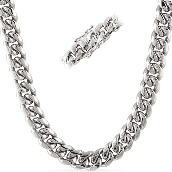No Fade Miami Cuban Chain Stainless Steel 12MM