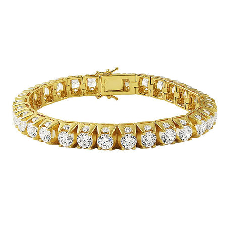 12MM Figaro Gold Plated Bracelet