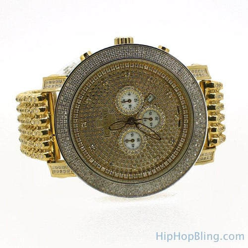 6.00 Carat Triple Diamond Bezel & Band IceTime Gold Watch
