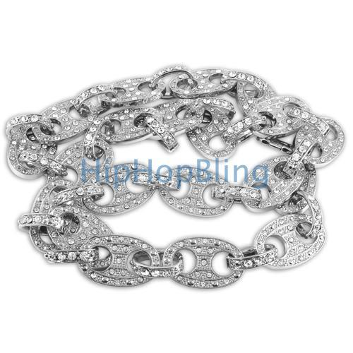 Bling Bling Chain Rhodium Fat Marine Link 15mm Wide