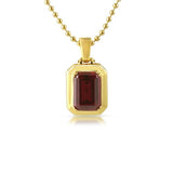 .925 Sterling Silver Lab Ruby Gem Pendant