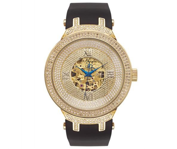 Skeleton Golden Joe Rodeo Watch 2.20ct Diamonds Bling