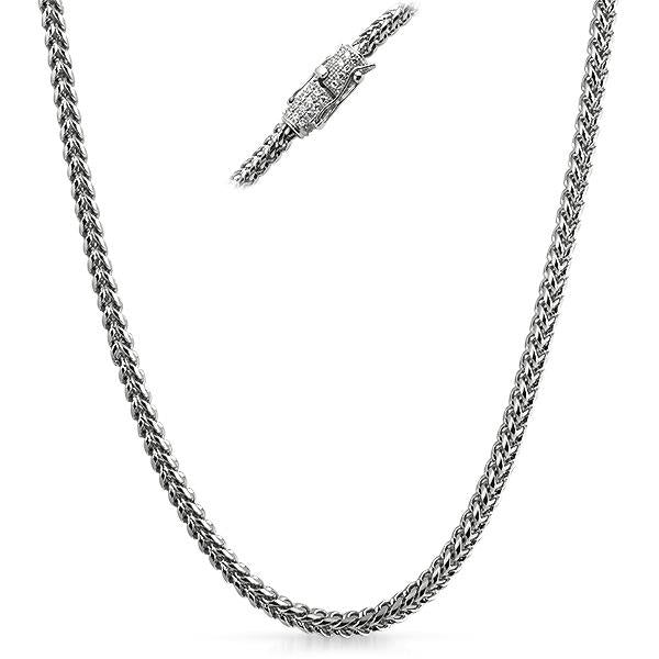 Real Diamond Stainless Steel Franco Hip Hop Chain 4MM