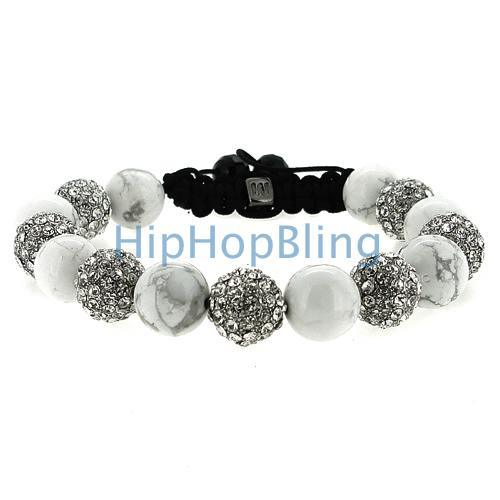 Marble Bling Bling Disco Ball Bracelet
