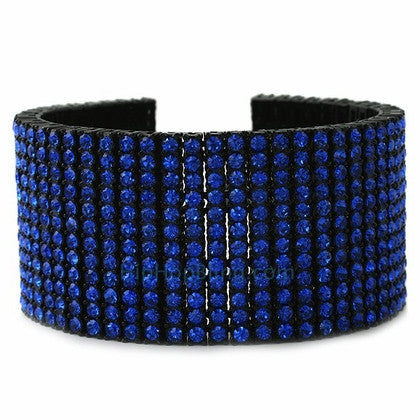 All Blue Bling 12 Row Bracelet