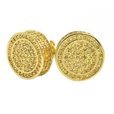 XL 3D Circle Custom Lemonade CZ Bling Earrings