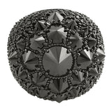 Reverse Set CZ Black Diamond XL Mens Bling Ring