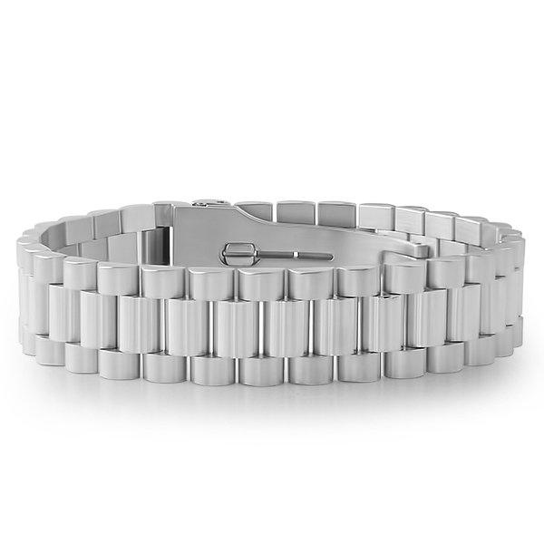Stainless Steel Presidential Bracelet with Watch Buckle
