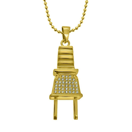 Swagu Bottle Custom Bling Hip Hop Pendant Gold
