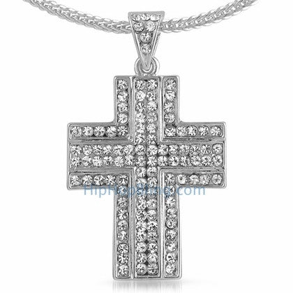 Ballers Bling Bling Cross & Chain Small