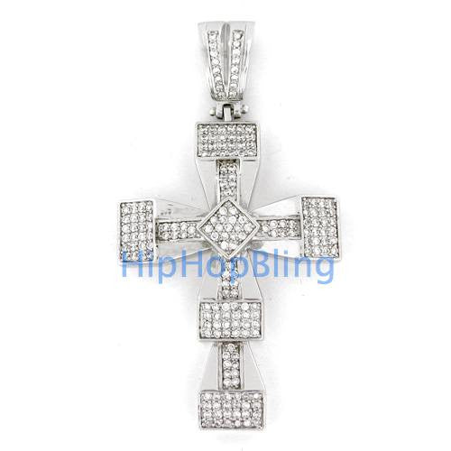Bar Bling Cross Micro Pave Charm