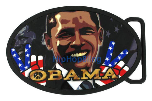 Barack Obama President for Peace Belt Buckle
