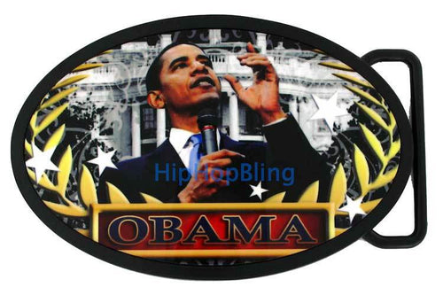 Barack Obama Whitehouse Speech Belt Buckle