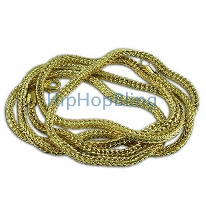 Yellow Gold 15MM Sharp Cuban Bling Bling Chain