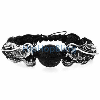 Black Dragon Bling Bling Disco Ball Bracelet 14mm