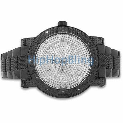 Black Super Techno Diamond Watch Bling
