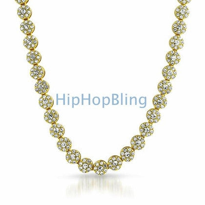 Bling Bling Cluster Chain Gold
