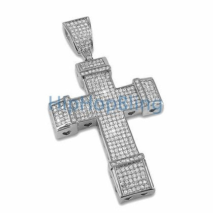 Bling Bling Cross CZ Micro Pave Pendant
