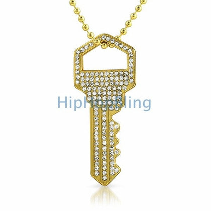 Rhodium Classic Bling Bling Cross & Chain Small