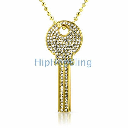 Bling Bling House Key Rhodium Gold #3