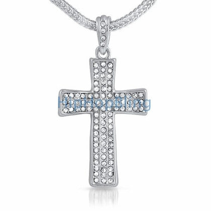 Bling Cross Small Bling Pendant & Chain