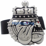 Bulldog Crown Silver Hip Hop Belt Buckle