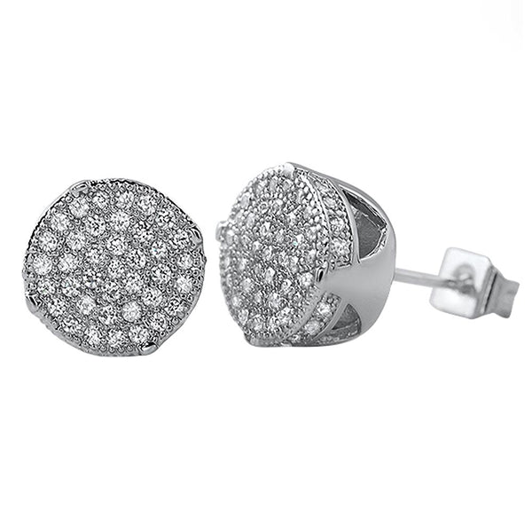 Solitaire Micro Pave CZ Bling Bling Earrings