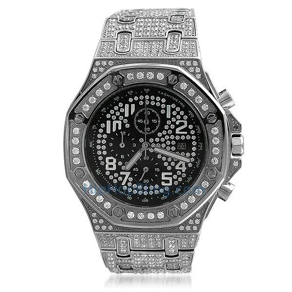 Octagon Lab Made Stainless Steel Bling Watch