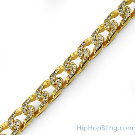 10MM CZ Gold 316L Bling Bling Tennis Bracelet