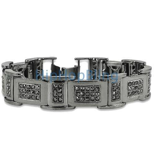 I Box Link Black Bling Bracelet
