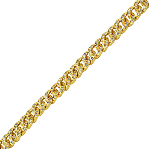 Gold Miami Cuban CZ Bling Bling Bracelet 6MM