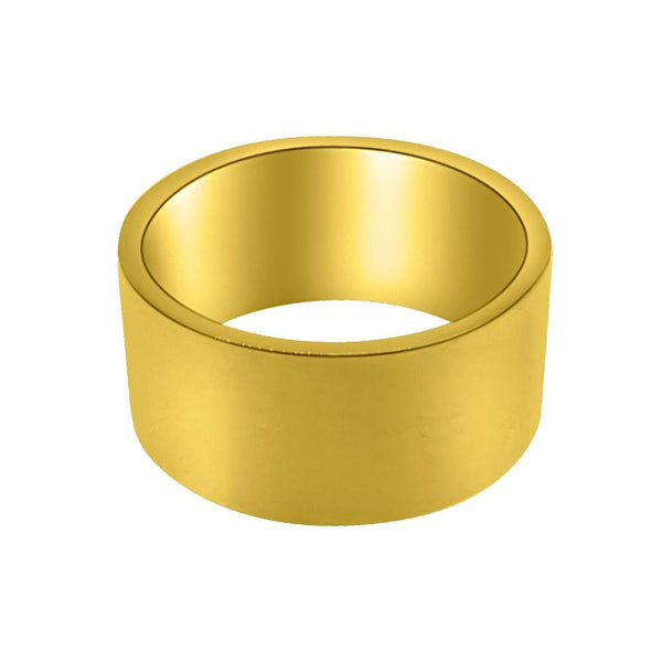 Polished Thick Gold Band Ring Stainless Steel