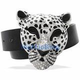 Cheetah Silver Hip Hop Buckle