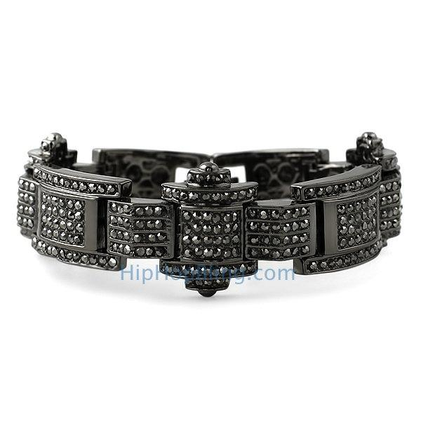 Celebrity Style Black Bling Bling Bracelet