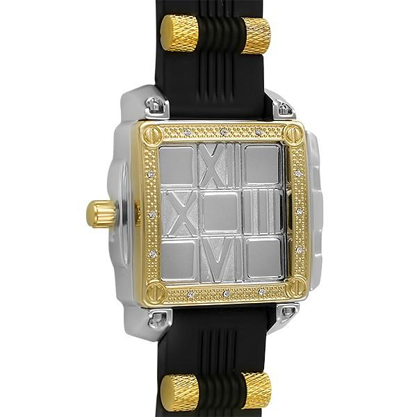 Slide Out Fashion Bling 2 tone Hip Hop Watch