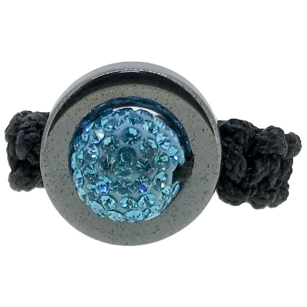 Sky Blue Disco Ball Ring